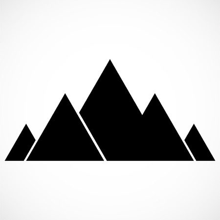 Abstract mountain logo. Mountains icon. Vector illustration Иллюстрация