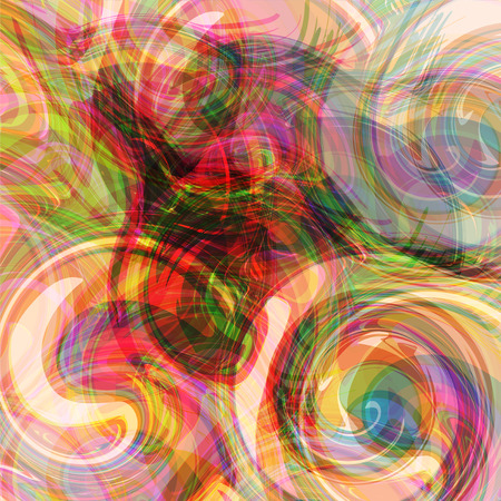 Abstract futuristic spirales of colorfuls waves, bright multicolored background