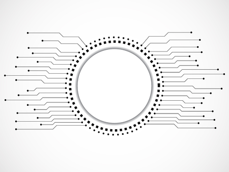 Estilo de tecnología de fondo abstracto de placa de circuito. Concepto de comunicación