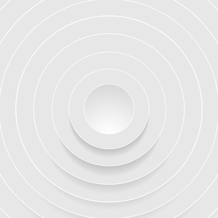Abstract grey circles with shadow. Vector background