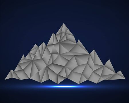 Abstract mountain in polygonal style. Mountain with triangles, vector illustration  イラスト・ベクター素材