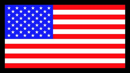 Vector image of American flag. Patriotic background.