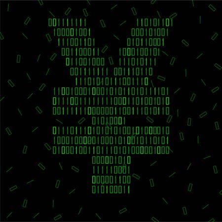 Abstract sign yuan of binary code