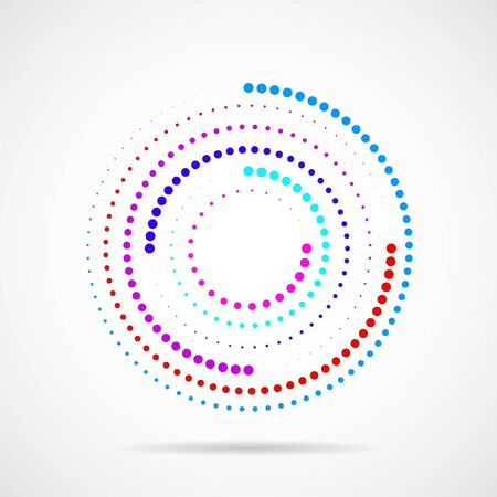 Abstract dotted circles. Dots in circular form. Vector design element Vector Illustration