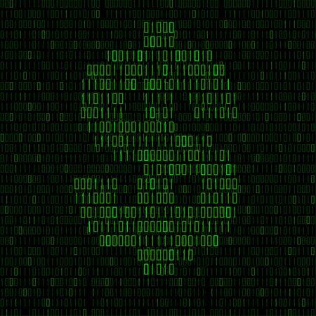 Abstract sign dollar of binary code Illusztráció