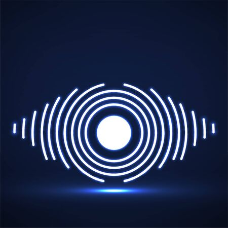 Abstract glowing eye of lines.