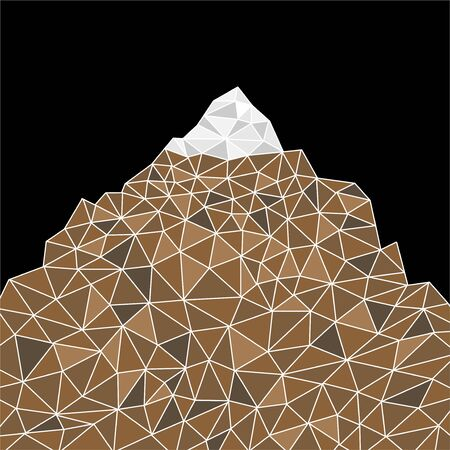 Abstract mountain in polygonal style. Mountain with triangles Ilustração Vetorial