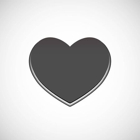 Big grey heart, love symbol. Vector symbol