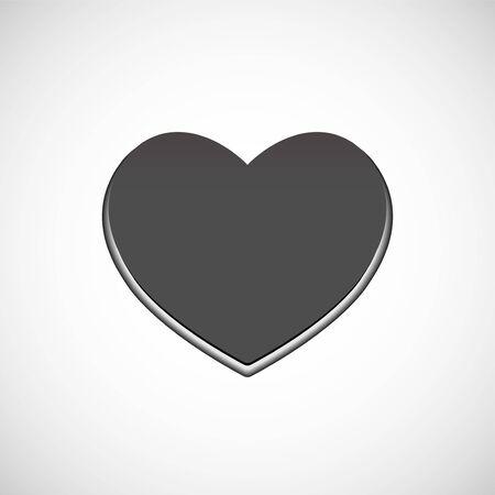 Big grey heart, love symbol. Vector symbol