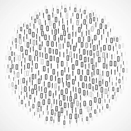 Abstract technology background with binary computer code in circle shape, vector illustration eps 10 Иллюстрация