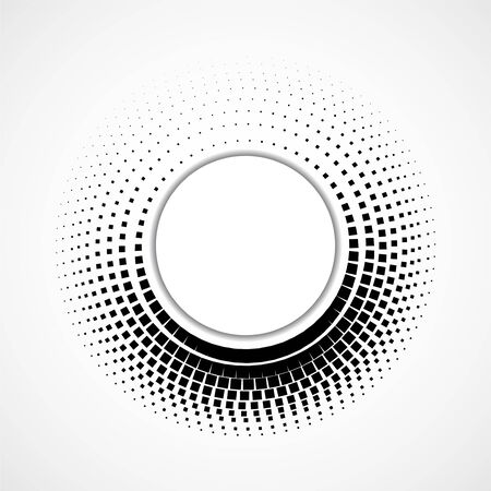 Abstract dotted squares, halftone dotted background, vector