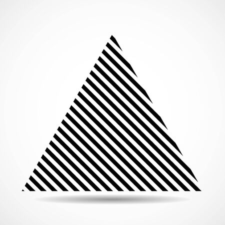 Abstract triangle of lines, geometric shape. Vector design elements Ilustração
