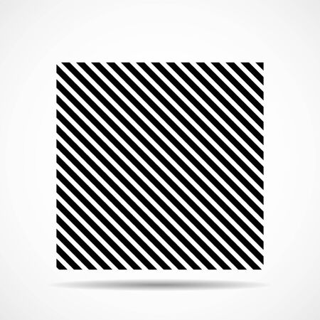 Abstract square of lines, geometric shape. Vector design elements