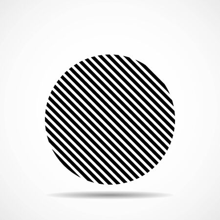 Abstract circle of lines, geometric shape. Vector design elements