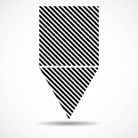 Abstract triangle and square of lines, geometric shape. Vector design elements