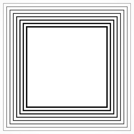 Black and white squares, striped background. Geometric halftone vector