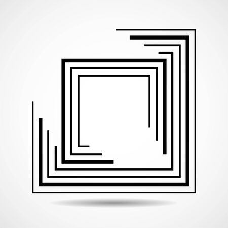 Abstract square with lines, geometric sign Ilustração