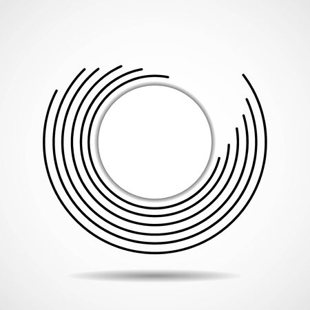 Abstract technology spiral lines in circle form, geometric