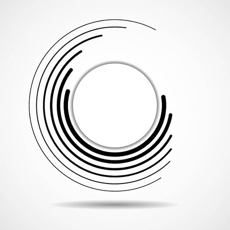 Abstract technology spiral lines in circle form