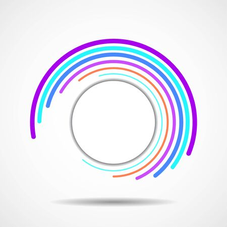 Abstract colorful technology spiral lines in circle form Ilustração