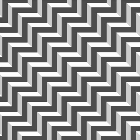 Abstract geometric pattern with stripes. Black and white zigzag print