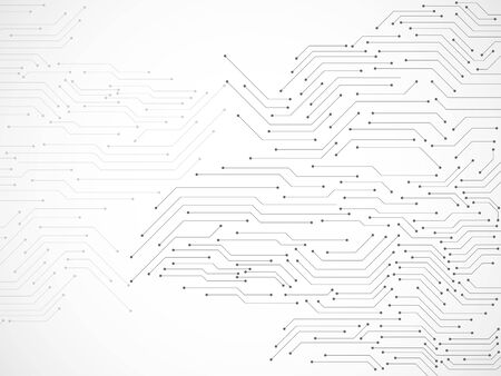 Fondo abstracto con placa de circuito, fondo de tecnología Ilustración de vector