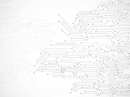 Sfondo astratto con circuito stampato, sfondo tecnologico Vettoriali