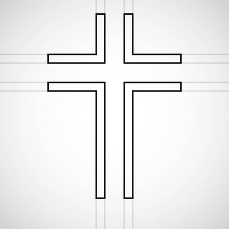 Abstract cross. Christian Symbol. Sign of lines