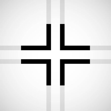 Cross. Christian Symbol. Sign of lines. Vector