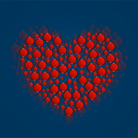 Abstract heart of red circles. Valentine's Day symbol Standard-Bild - 138029068