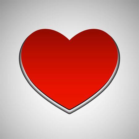 Big red heart, love symbol. Vector symbol Standard-Bild - 138029196