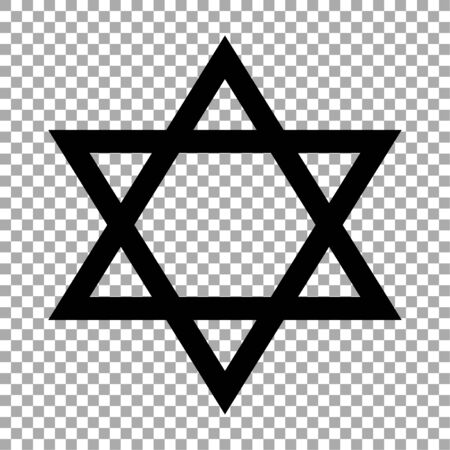 Star of David icon isolated on transparent background. Religious symbol. Vector illustration