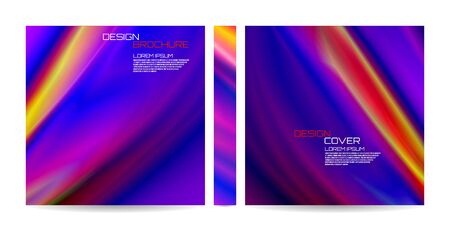 Brochure template with colorful futuristic wavy shapes. Magazine, poster, book, presentation, advertising. Abstract vector background. Template with futuristic design. Cover design your text