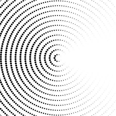 Halftone dotted background in circle form. Circle dots isolated on the white background. Vector