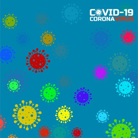 Coronavirus background with bacteria. Science and medicine concept. Abstract vector illustration