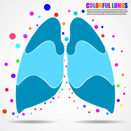Abstract human lung for your design. Vector illustration
