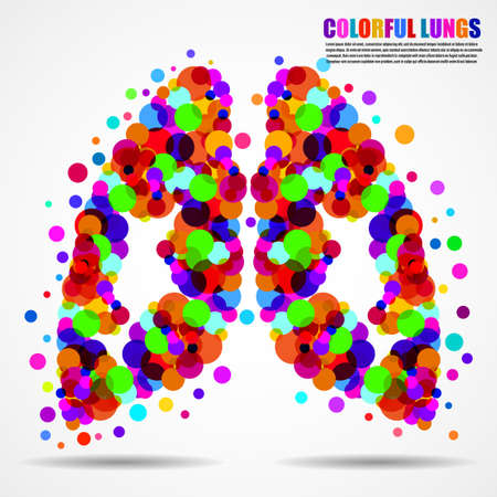 Abstract human lungs of colorful circles for your design Иллюстрация