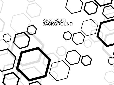 Abstract hexagon background, molecular structure, geometric shape with hexagons. Vector illustration