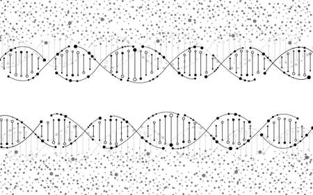 Abstract spiral of DNA, molecular background and science concept. Vector illustration  イラスト・ベクター素材