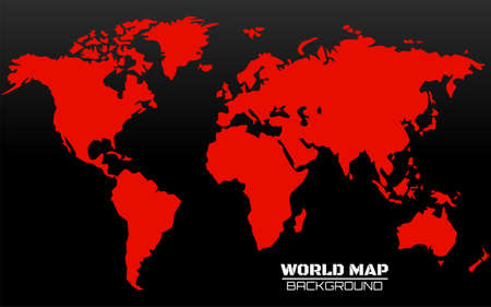 World map vector illustration. Colorful Earth map on isolated background. Globalization Illustration
