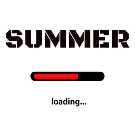 Summer is loading. Vector progress loading bar
