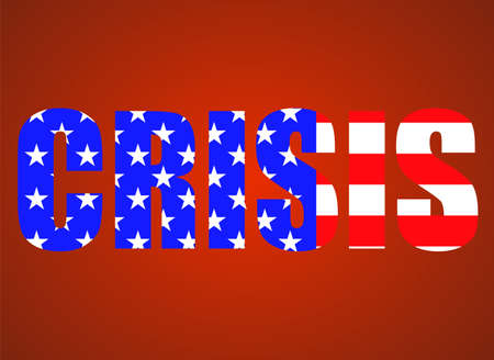 Word CRISIS of flag usa for your design 版權商用圖片