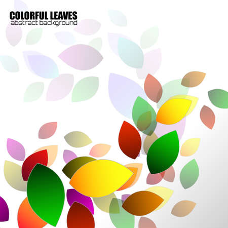 Abstract colorful leaves, nature background. Vector illustration Фото со стока - 152130587