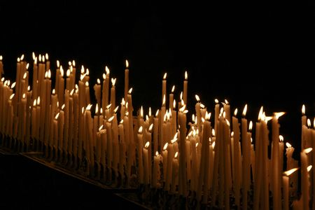Candles in church photo