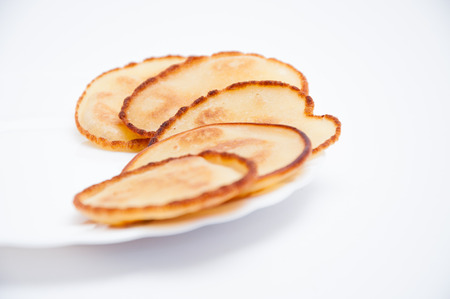 Roasted fritters on a white background
