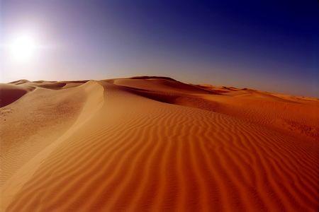 inhospitable: Dunes in the Sahara desert near Timimoun (Tinerkouk), Algeria Stock Photo