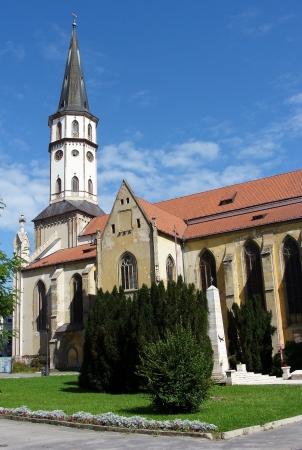 Kostel sv. Jakuba, věž, pomník Reklamní fotografie