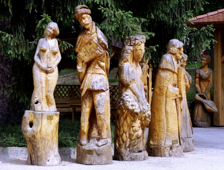 dřevěné sochy, řezbářství, Slovensko
