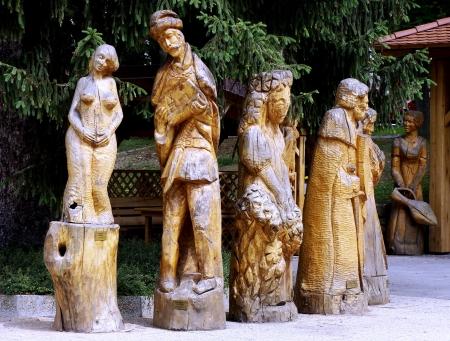 wooden statues,carving, Slovakia Reklamní fotografie