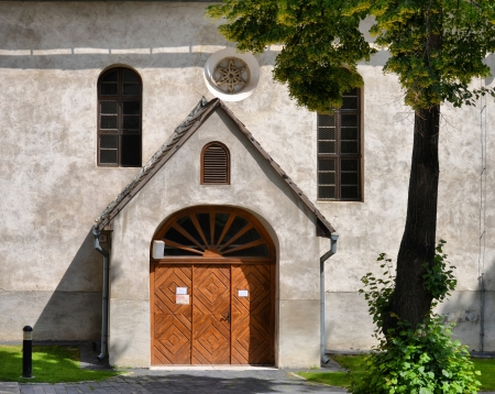 side entrance to the church